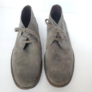 John Varvatos gray suede hipster chukka boots 13